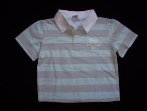 Urban Culture Striped Polo Tee - Size 6