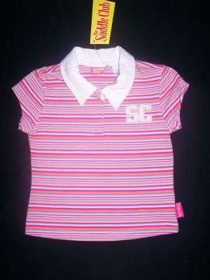 Saddle Club Striped Polo Tee - Size 5