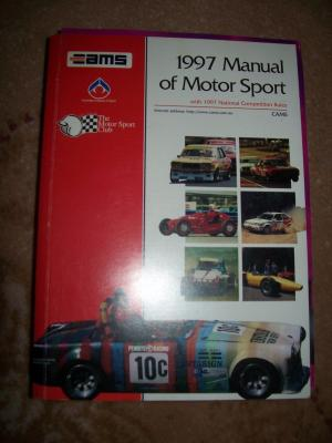 CAMS 1997 MANUAL OF MOTOR SPORT