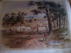 S T Gill Eaglehawk Gully c 1852 print