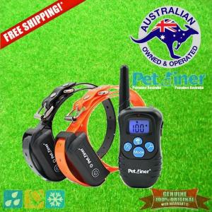 Petrainer PET998DBB-2 Remote Dog Training Collar for 2 Dogs