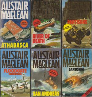 Alistair MacLean x 6: Athabasca, River of Death, Partisans, Floodgate,
