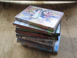 Stack of 10 DVD's mostly childrens titles .  $15 the lot.