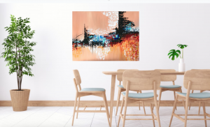 City Landscape Abstract art work Painting on Canvas