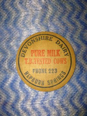 Devonshire Dairy Milk Bottle Top Stopper