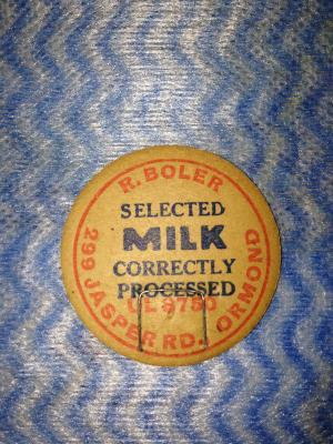 R.Boler Milk Bottle Top Stopper