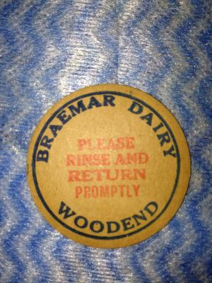 Braemar Dairy Milk Bottle Top Stopper Woodend