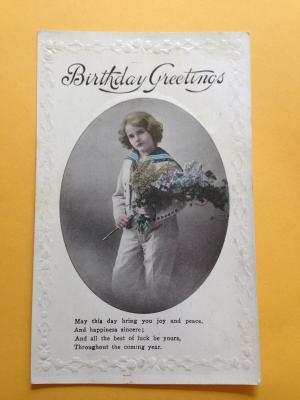 Antique Birthday Card