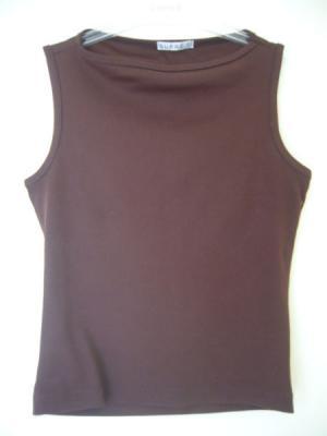SUPRE Brown Sleevesless Top M but suits 6 8