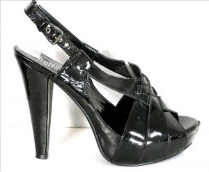 BETTS strappy platform heels, patent faux leather,