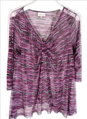 AUTOGRAPH net tunic top - purple shades, loose fit