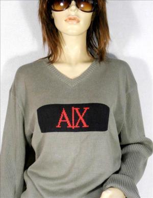 ARMANI EXCHANGE cotton V neck jumper, sz. 14XL