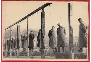 r420) WW2 RUSSIAN PHOTO-EXECUTION GERMAN PRISONERS