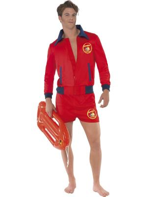 New Licensed BAYWATCH Lifeguard Costume Adult