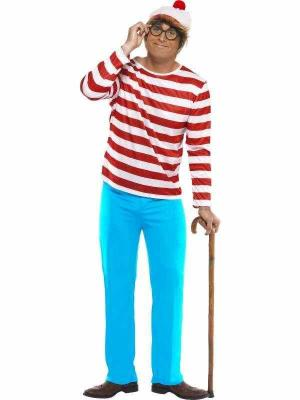 New Licensed Where's Wally Costume Adult