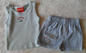 BUNNYKINS Blue Singlet & Shorts Set Boys 0000