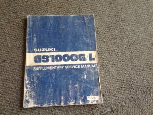 suzuki GS 1000 GL supplementry service manual