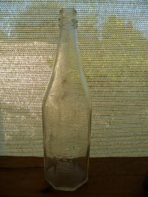Vintage old glass bottle Australasian Jam Co