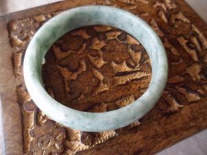 Vintage Jade Green Stone Bangle