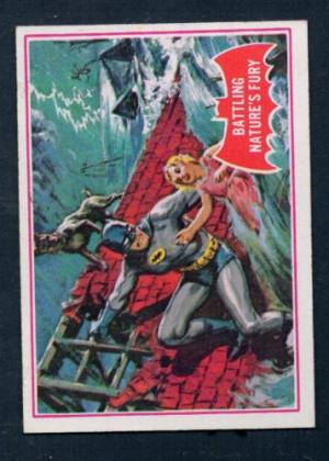 SCANLENS 1966 BATMAN RED BAT CARD 23A BATTLING NA