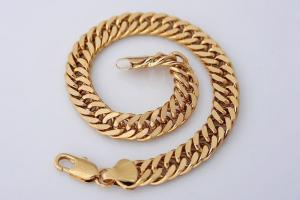 Brand New 18k Yellow Gold Bracelet Chain 21cm