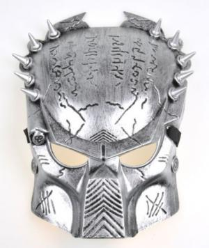 Brand New Silver Predator Costume Mask