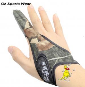 1x Camo Spinning Jigging Cast PU Anti Slip one finger fishing glove-FG