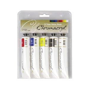 Chromacryl Student Acrylics Sets of 5 Primary Colours