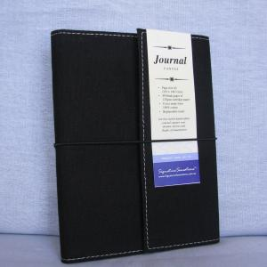 Canvas A5 Drawing & Sketch Book Journals - Black Cover