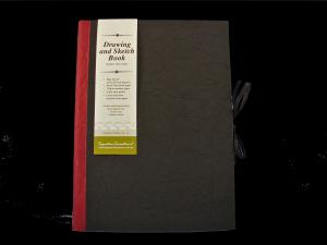 Drawing & Sketch Book: A4 Portrait - Black