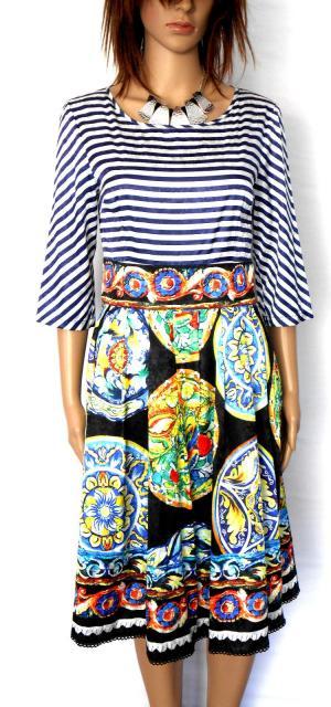 3.1 PHILLIP LIM silk dress, amazing pattern combo