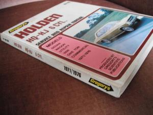 Holden HQ - HJ 6 CYL. service and repair manual Gregory's