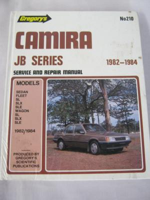 Holden Camira JB Series 1982-1984 Gregorys service and repair manual