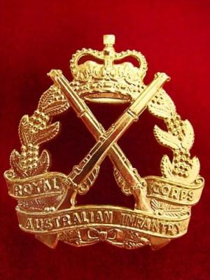 ROYAL AUSTRALIAN INFANTRY CORPS BERET / HAT BADGE