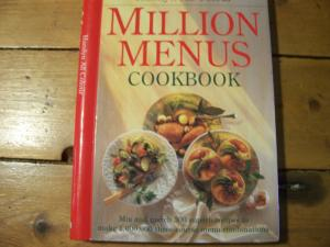 Million Menus cook book