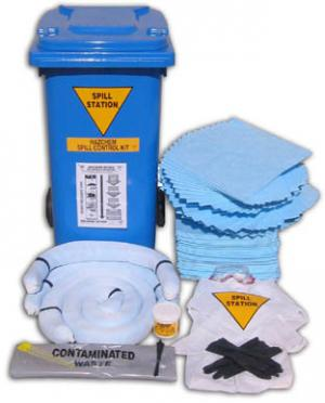 120 Litre General Purpose Chemical Spill Kit - Bin