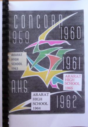 SCHOOL MAGAZINES ARARAT HIGH SCHOOL 1959 TO 1965 THE CONCORD