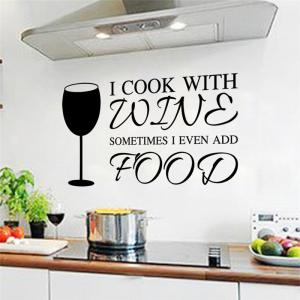 Wineglass Kitchen Wall Sticker