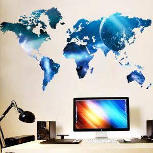 World Map Planet Wall Stickers Living Room