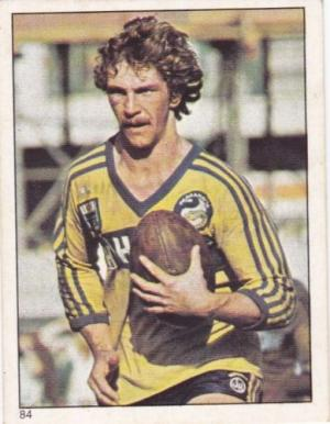 Scanlens 1984 Rugby League sticker #84 BRETT KENNY - PARRAMATTA