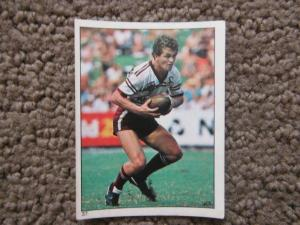Scanlens 1984 Rugby League sticker #37 PHIL SIGSWORTH - MANLY