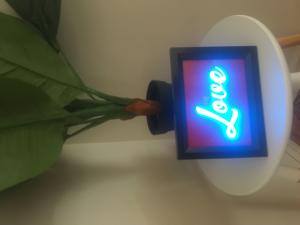 """A5 Size Night Light, Stand Alone Picture Frame """"LOVE"""" Light Box"""