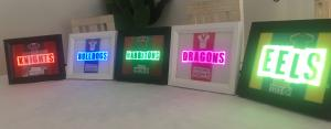 NRL style night light, stand alone picture frame