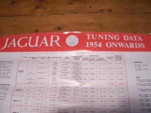 Jaguar Tune up wall chart (1954)