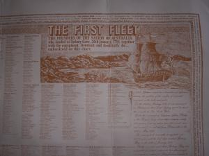 The First Fleet 1788 wall chart (copy)