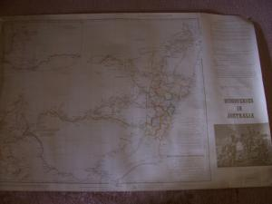 Map Discoveries in Australia 1834