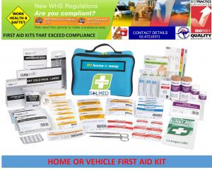 FIRST AID KIT HOME & AWAY SUPER VALUE SOFT CASE