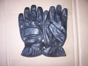 Mens Leather Mesh Motorcycle Motorbike Gloves
