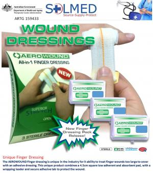 FIRST AID FINGER WOUNDCARE DRESSING STERILE