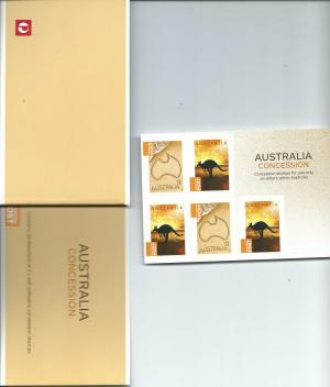 Concession Stamps Booklet & Empty 20 Pack Booklet